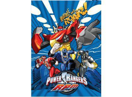 Sun Ce Power Rangers Neprůhledný obal s linkovaným sešitem 60 listů