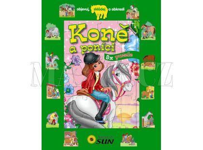 Sun Koně a poníci 8x puzzle