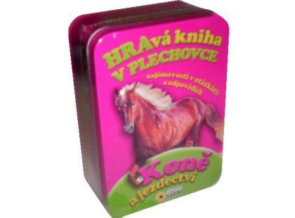 Sun Koně a jezdectví Hravá kniha v plechovce