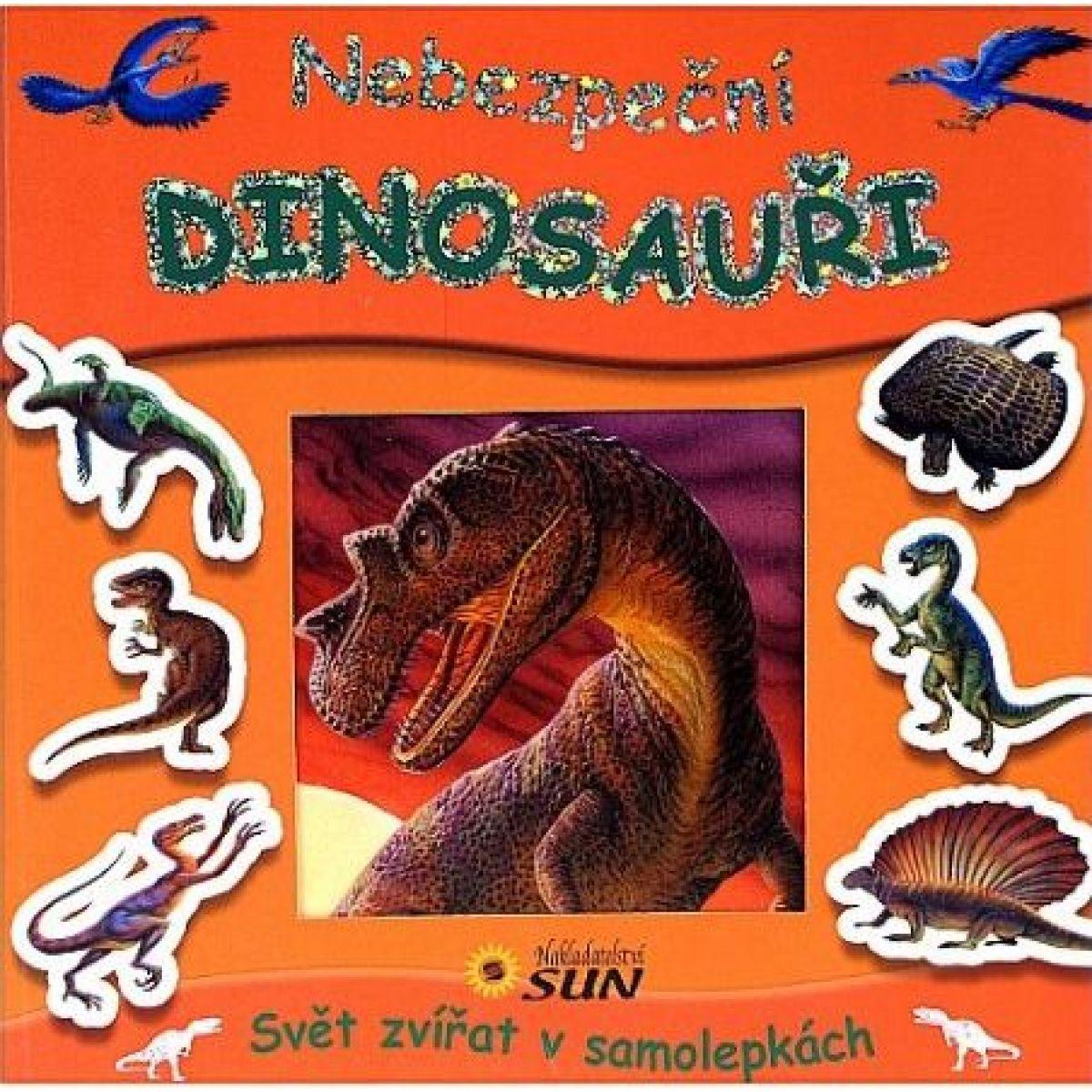 Sun Nebezpeční dinosauři Svět zvířat v samolepkách