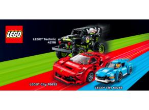 Super rychlé auto nebo výkonný teréňák? Rozjeďte to s vozidly LEGO®