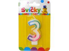 Svíčka na dort číslo 3