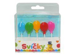 Svíčky na dort balonky 5ks