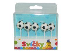 Svíčky na dort fotbalové míče 5 ks