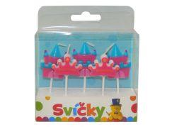 Svíčky na dort princezny 5 ks