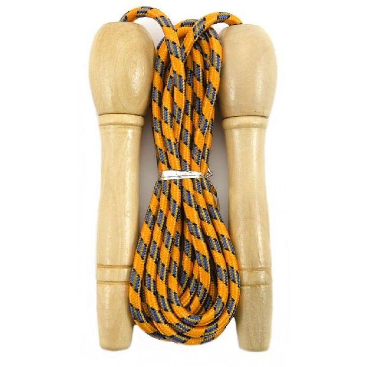 Švihadlo 270 cm s dřevěnou rukojetí nastavitelné oranžové