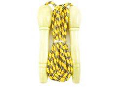 Švihadlo 270 cm s dřevěnou rukojetí nastavitelné žluté