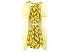 Švihadlo 270 cm s dřevěnou rukojetí nastavitelné žluto-zelené
