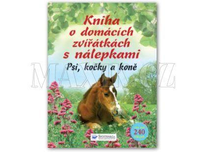 Svojtka Kniha o domácích zvířátkách s nálepkami - Psi, kočky, koně