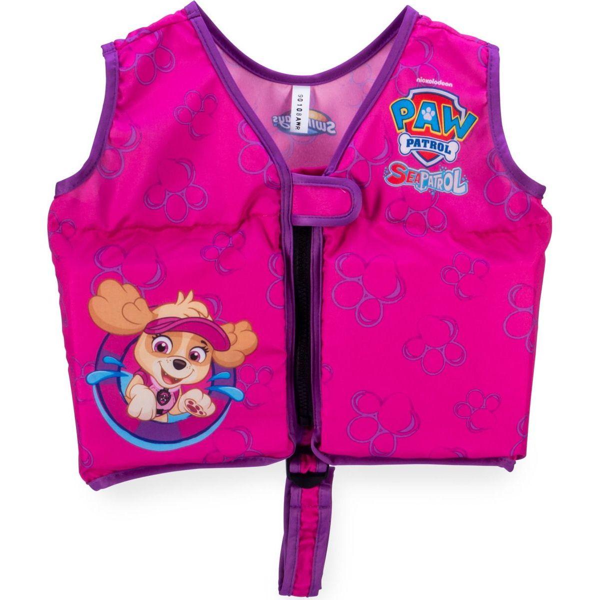 Swimways Plavací vesta na zip Paw Patrol růžová Skye
