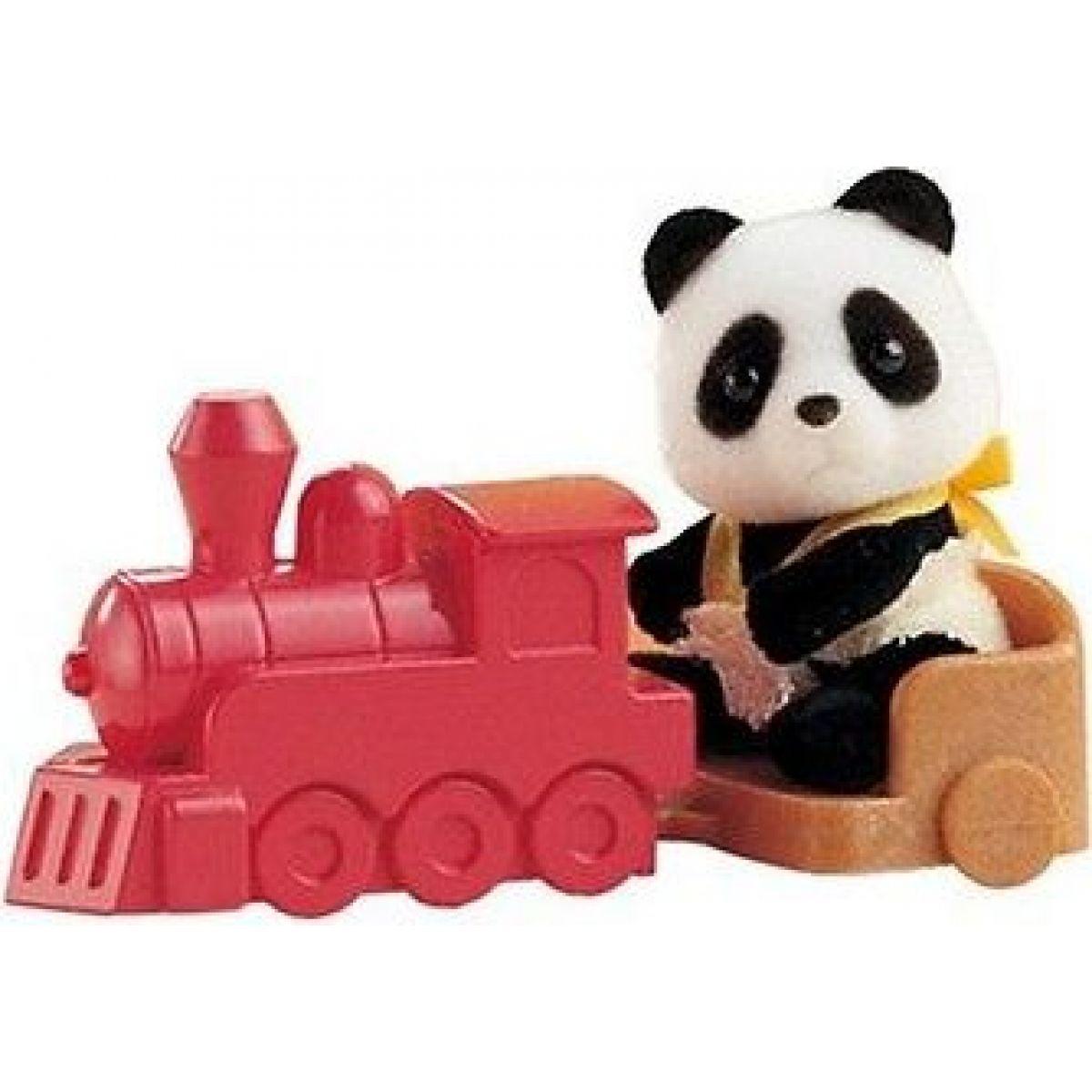 Sylvanian Families Baby příslušenství - panda, méďa a veverka si hrají doma - Panda