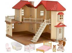 Sylvanian Families Dárkový set - městský dům se světly a příslušenstvím F