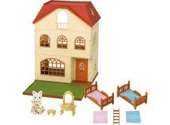 Sylvanian Families Dárkový set - Třípatrový dům s příslušenstvím a figrukou B