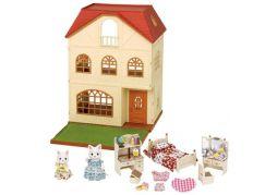 Sylvanian Families Dárkový set - Třípatrový dům s příslušenstvím a figurkami A