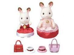 Sylvanian Families Město chocolate 2 králičí kamarádky v elegantních šatech