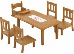 Sylvanian Families Nábytek - jídelní stůl se židlemi