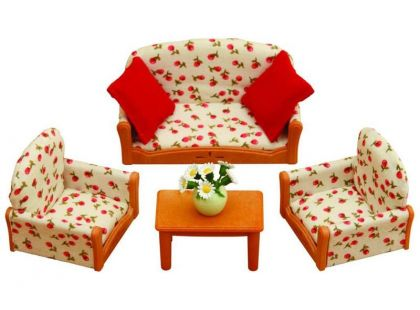Sylvanian Families Nábytek - sedací souprava se stolečkem