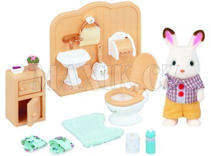 Sylvanian Families Nábytek chocolate králíků - bratr a umývárna