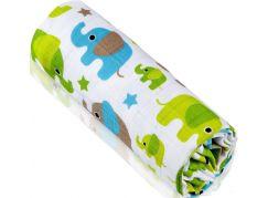 T-tomi Bambusová BIO osuška, 1 ks, zelení sloni
