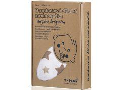 T-tomi Bambusová zavinovačka, 1 ks, béžové hvězdičky