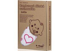 T-tomi Bambusová zavinovačka, 1 ks, srdíčka
