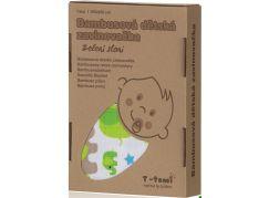 T-tomi Bambusová zavinovačka, 1 ks, zelení sloni