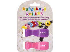 T-tomi Kočárkový kolíček, 2ks, růžový + fialový