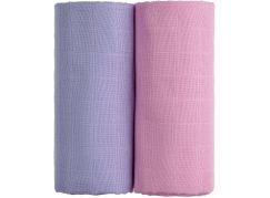T-tomi Látkové TETRA osušky, sada 2 ks, růžová + fialová