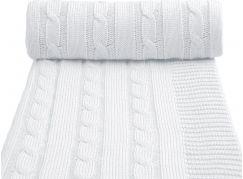 T-tomi Pletená deka, 1 ks, bílá