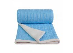 T-tomi Pletená deka, 1 ks, modrá- winter