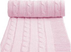 T-tomi Pletená deka, 1 ks, růžová