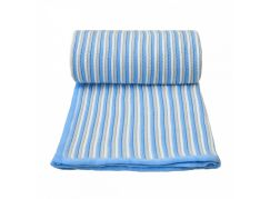 T-tomi Pletená deka, bílo - modrá