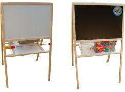 Tabule školní oboustranná magnetická s hodinami