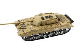 Tank plastový 28cm na baterie se světlem a zvukem béžový