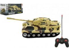 Tank RC PANTHER na dálkové ovládání plast 25cm Hnědý