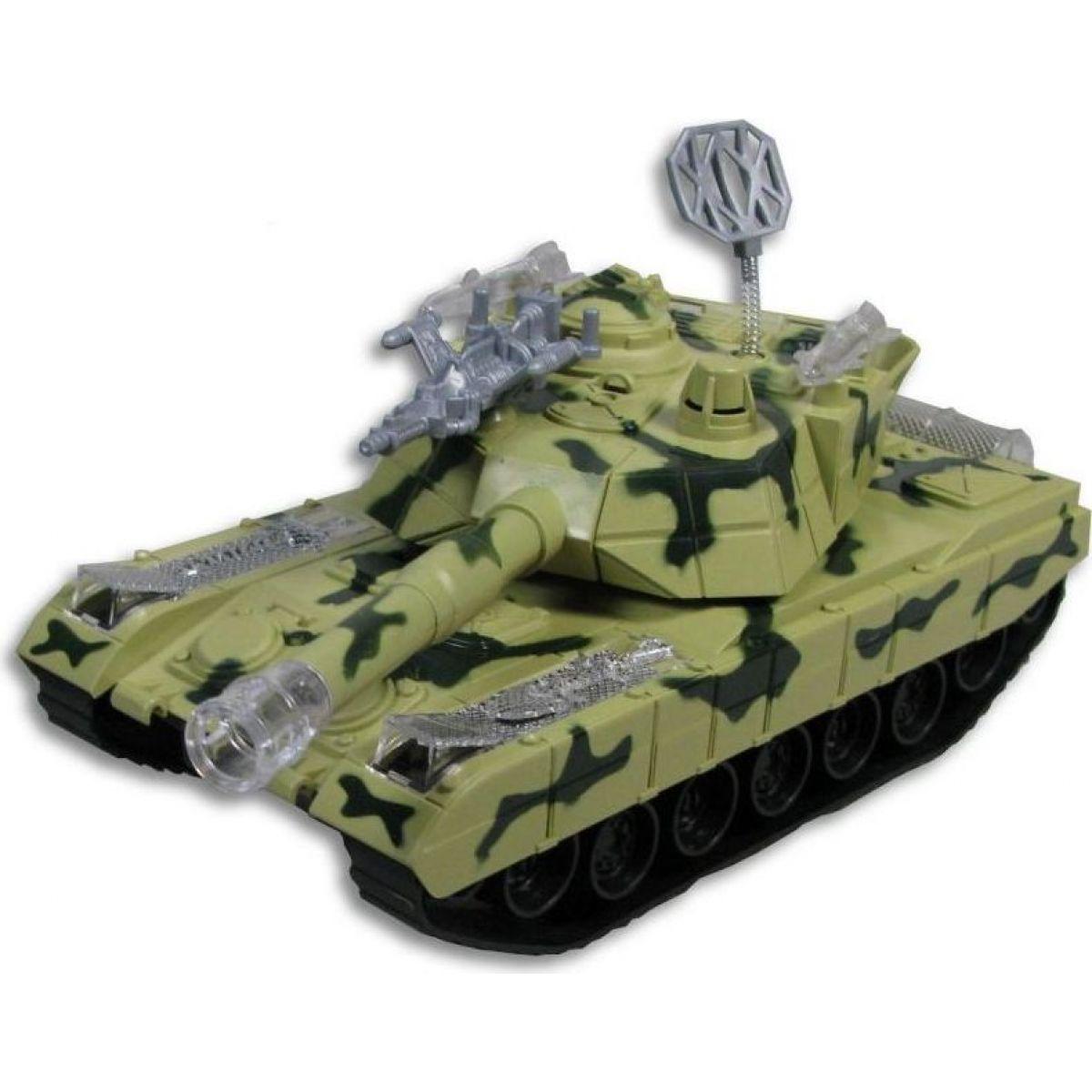 Tank se světlem a hudbou na baterie - Zelená