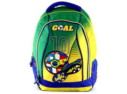 Target Batoh dětský Fotbal žluto/zelený