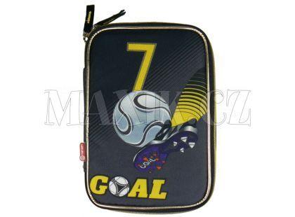 Target Penál Fotbal šedo/černo/zlatý plně vybavený