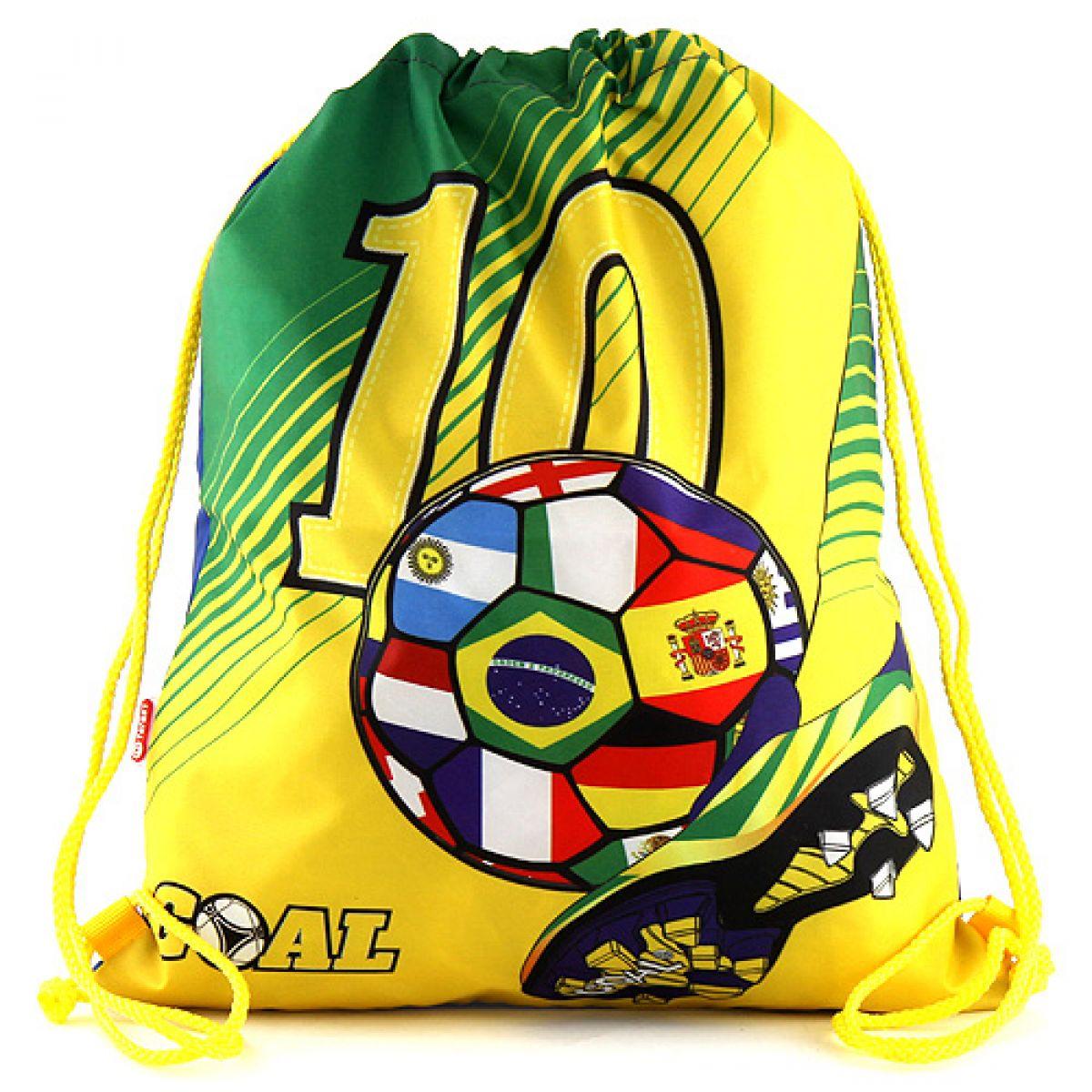 Target Taška na přezůvky Fotbal žluto/zelený