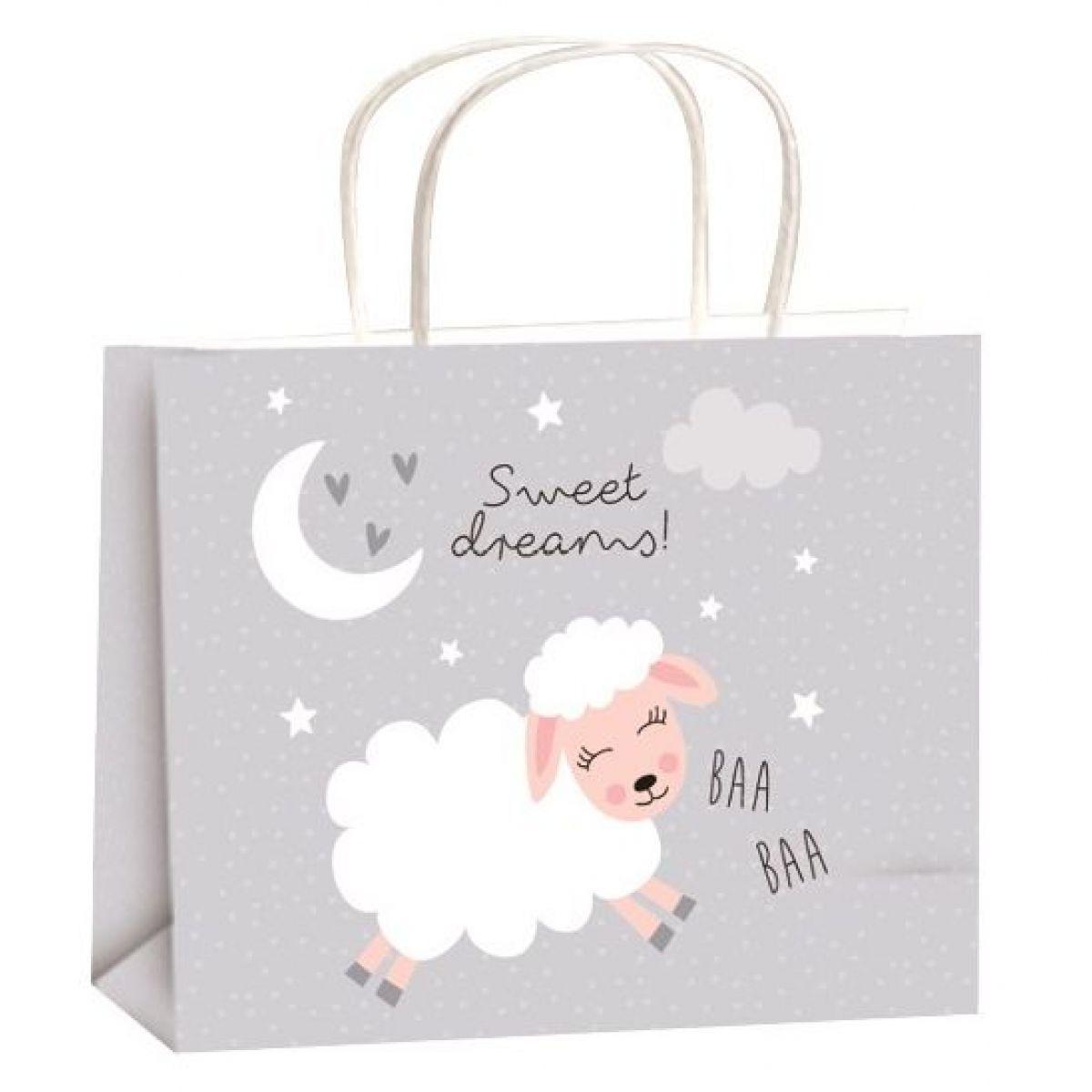 Taška celoroční dárková pro děti M horizont 23x18x10cm ovečka