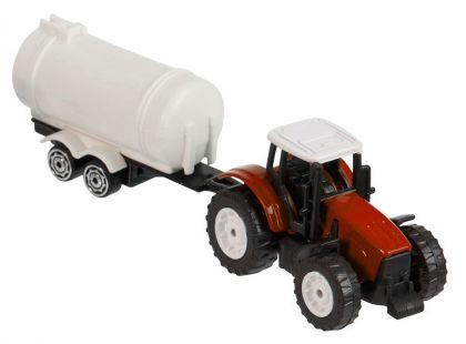 Teamsterz Traktor s valníkem - Červený traktor s cisternou