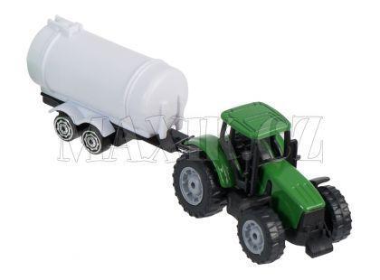 Teamsterz Traktor s valníkem - Zelený traktor s cisternou