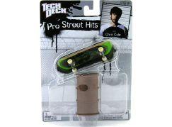Tech Deck Fingerboard s překážkou Barel zelený Cole