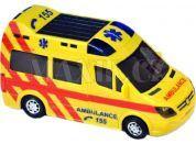 Teddies Ambulance 21cm narážecí se světlem a zvukem