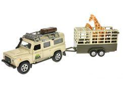 Teddies Auto - Land Rover Defender s přívěsem a žirafou