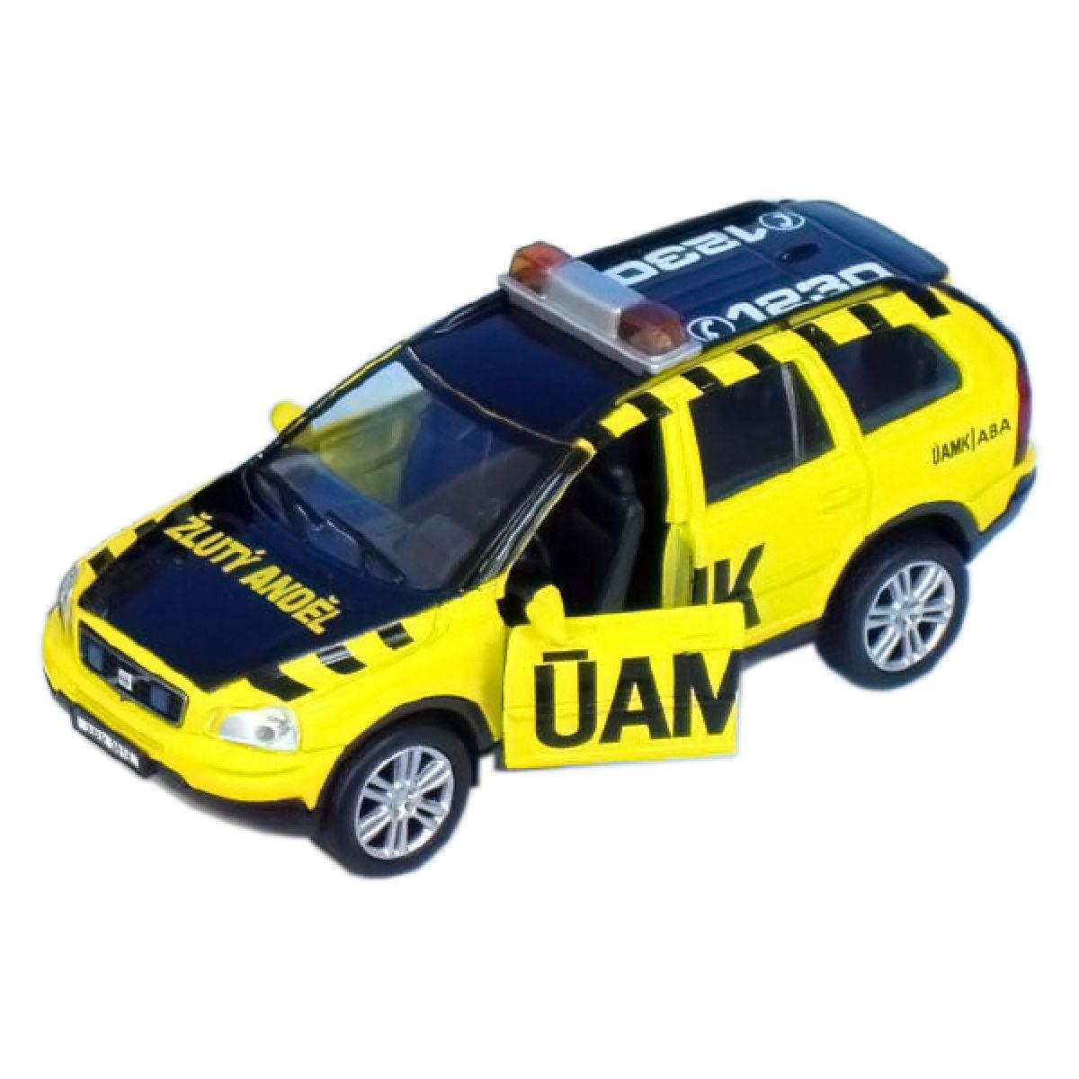 Teddies Auto - Volvo žlutý Anděl na zpětné natažení
