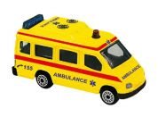 Teddies Auto ambulance kov 7cm Žlutá