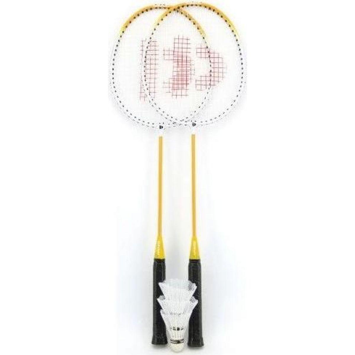 Teddies Badminton sada se 3 košíčky žlutá