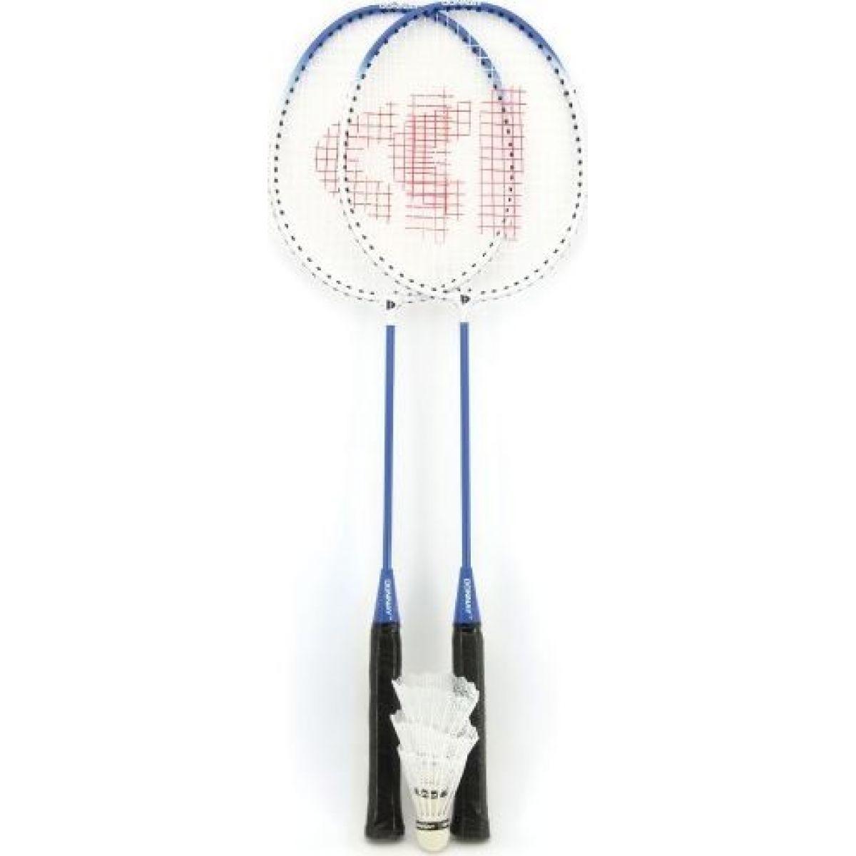 Teddies Badminton sada se 3 košíčky modrá
