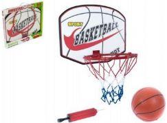 Teddies Basketbalový koš s míčem a pumpičkou